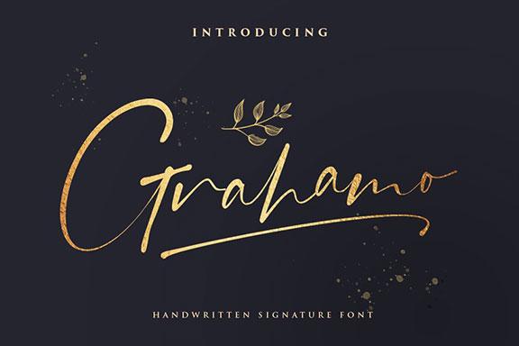 现代精美手写连字签名英文字体 Grahamo – Luxury Script