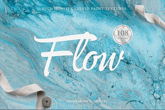 108款抽象手绘流体液体丙烯酸&大理石背景纹理 108 Flow Liquid Textures