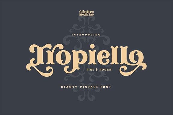 精美复古老式英文练字字体下载 Tropiello – Beauty Vintage Font