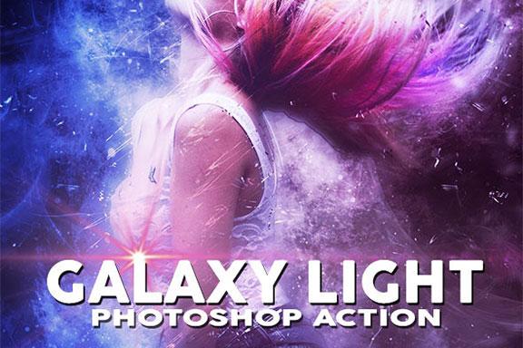 神奇银河星云效果肖像摄影后期处理PS动作 GALAXY LIGHT Photoshop Action