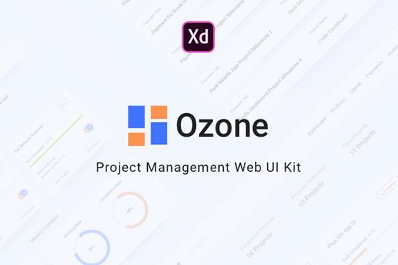 极简项目管理仪表板Web用户界面设UI套件 Ozone UI Kit