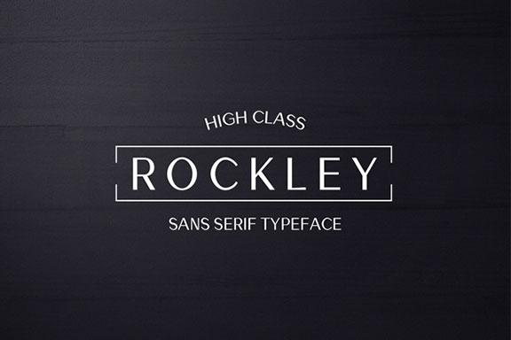 现代简约无衬线英文字体免费下载 Rockley Sans Serif