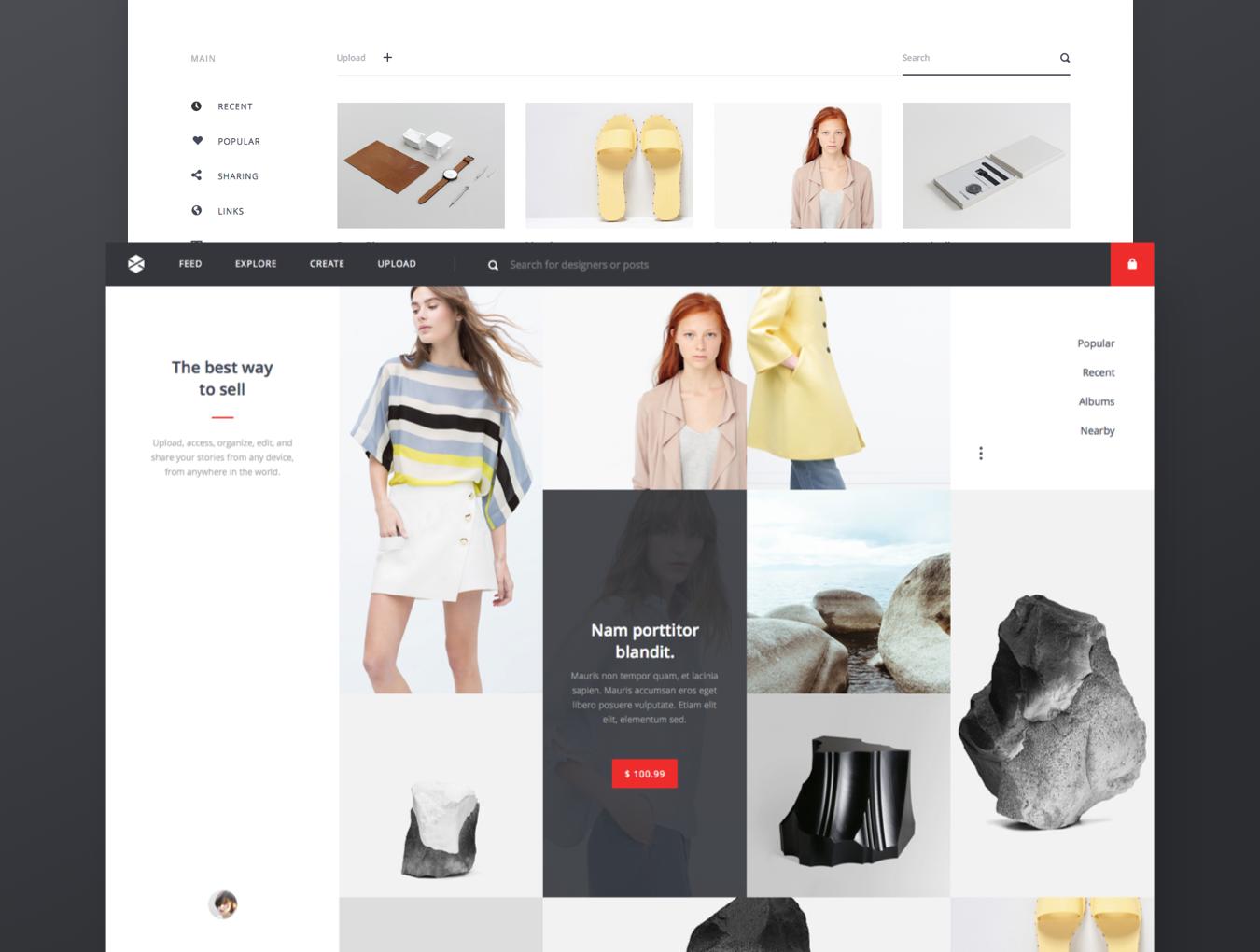 精美在线购物电子商城网站UI设计模板 Avia UI Kit: Shopping插图(3)