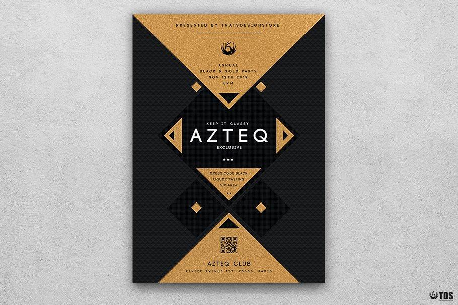 10款A4音乐会主题黑色&金色宣传单设计模板套装 10 Minimal Black & Gold Flyer Bundle插图(10)