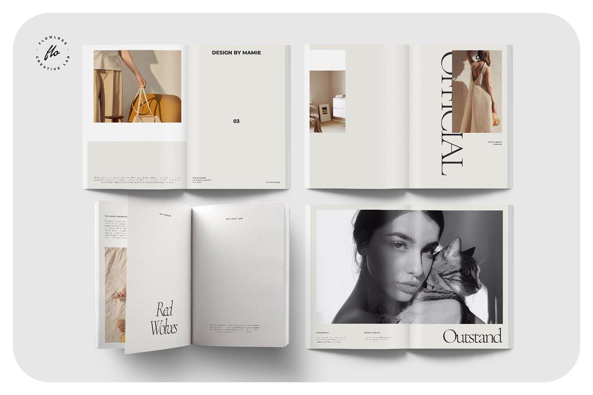 高端女性服装品牌宣传画册设计INDD模板 FOLK Fashion Lookbook插图(1)