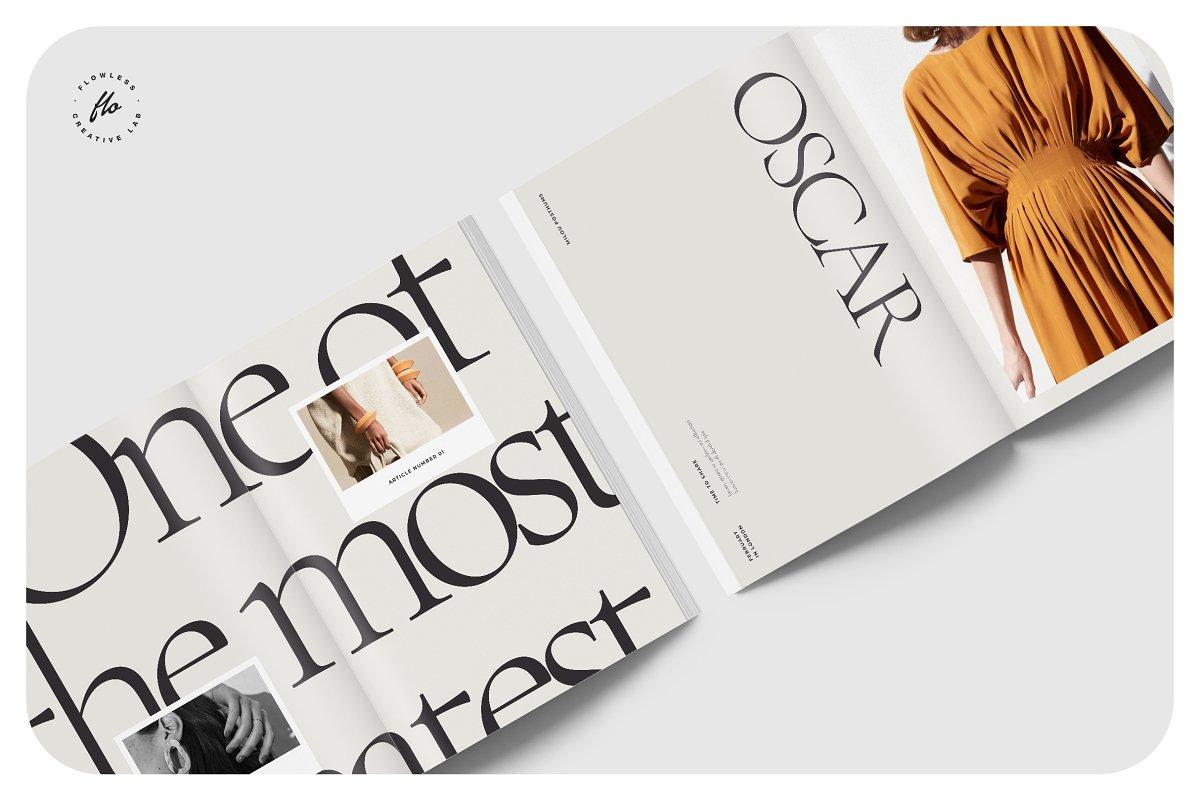 高端女性服装品牌宣传画册设计INDD模板 FOLK Fashion Lookbook插图(2)