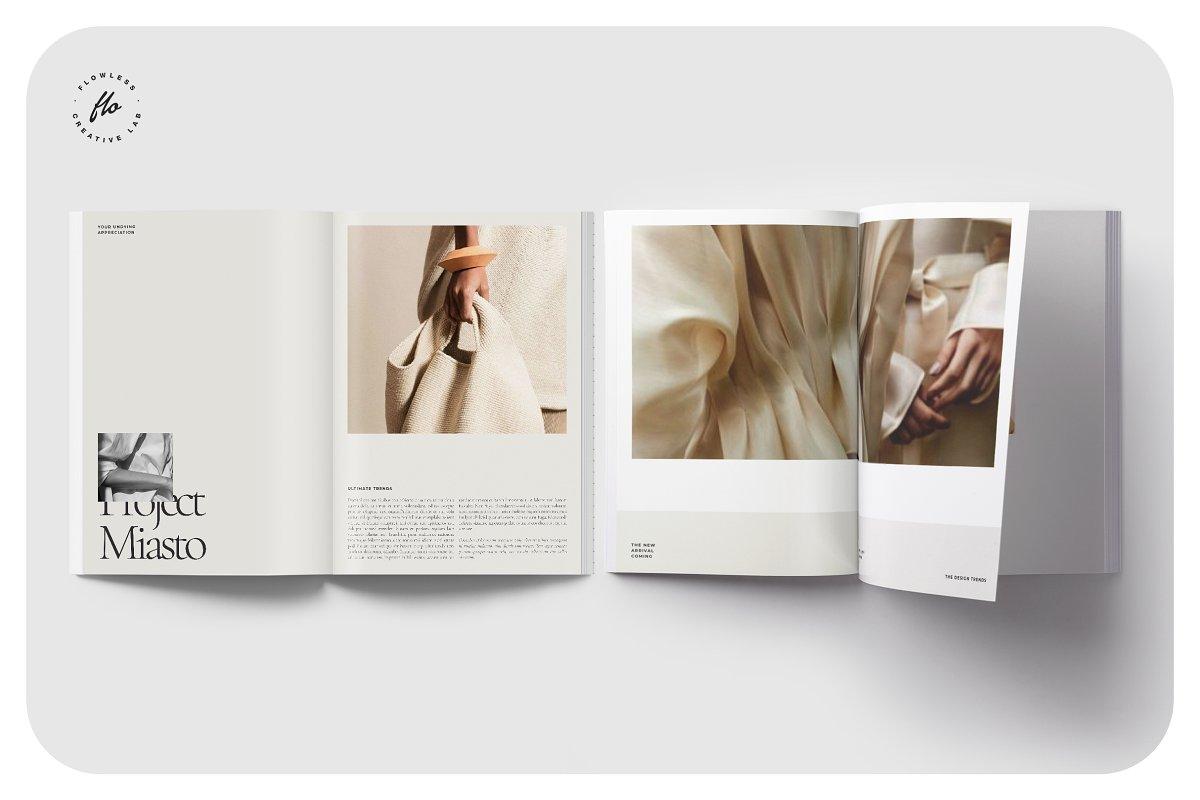 高端女性服装品牌宣传画册设计INDD模板 FOLK Fashion Lookbook插图(3)