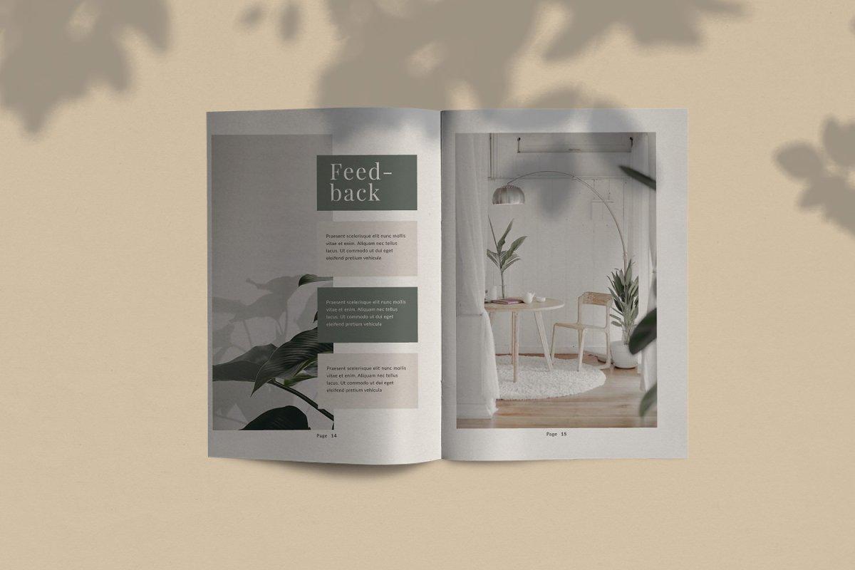 产品品牌设计作品集目录宣传画册INDD模板 Promise Brand Lookbook插图(2)