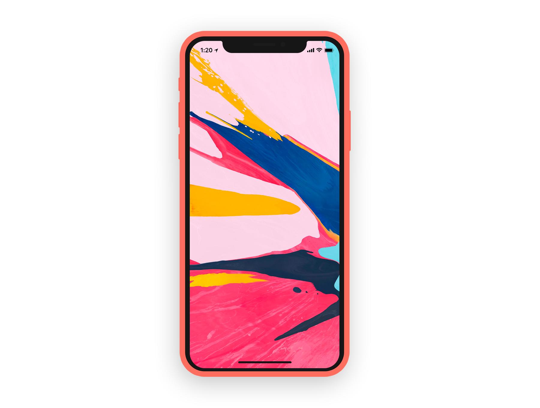 iPhone X & XS手机APP设计展示图设计样机模板 iPhone X / XS Flat Mockup插图(5)