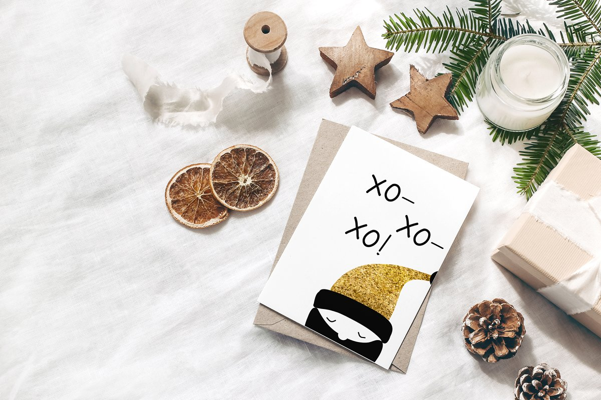 圣诞节主题多元素矢量插图合集 Christmas Holiday Cards & Tags Set插图(8)