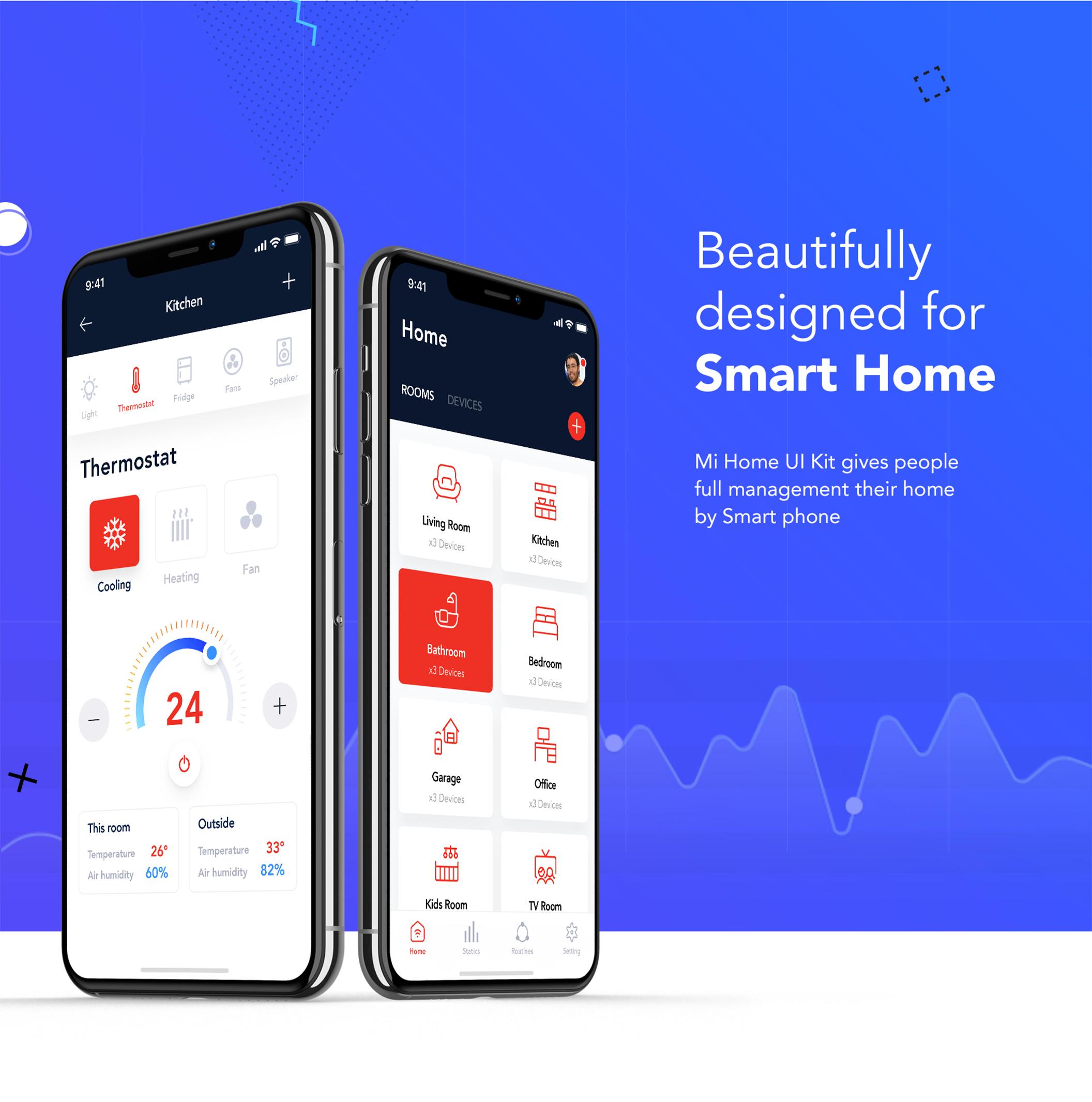 小米智能家居APP UI界面设计套件 Mi Home – Smart Home UI Kit插图(5)