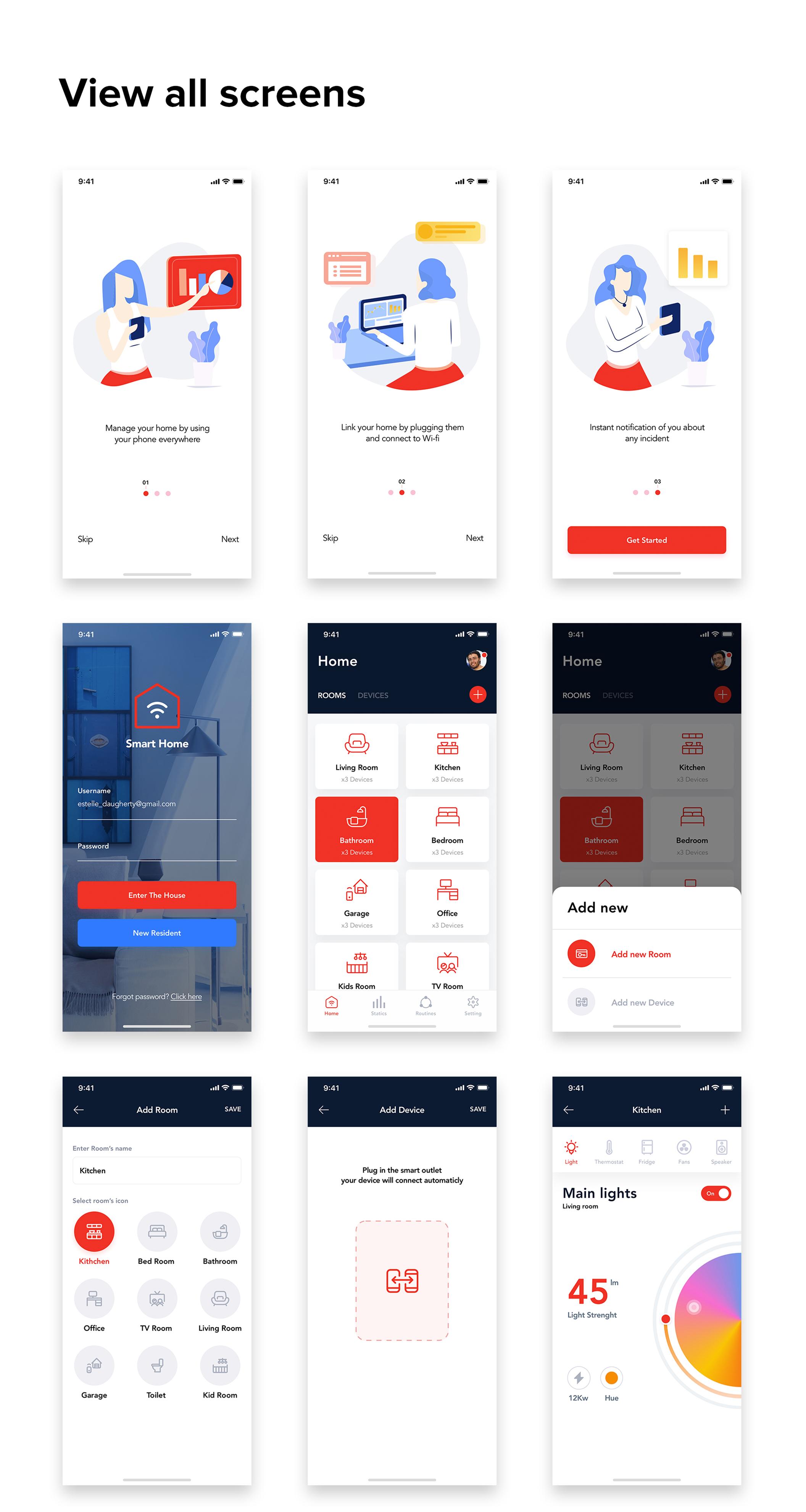 小米智能家居APP UI界面设计套件 Mi Home – Smart Home UI Kit插图(6)