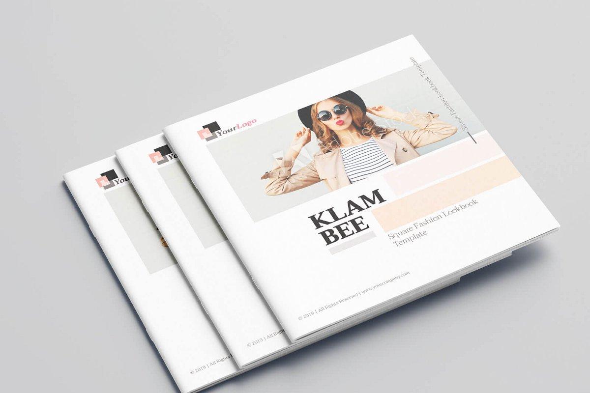时尚方形服装品牌宣传画册设计INDD模板 KLAMBEE – Square Fashion Lookbook插图
