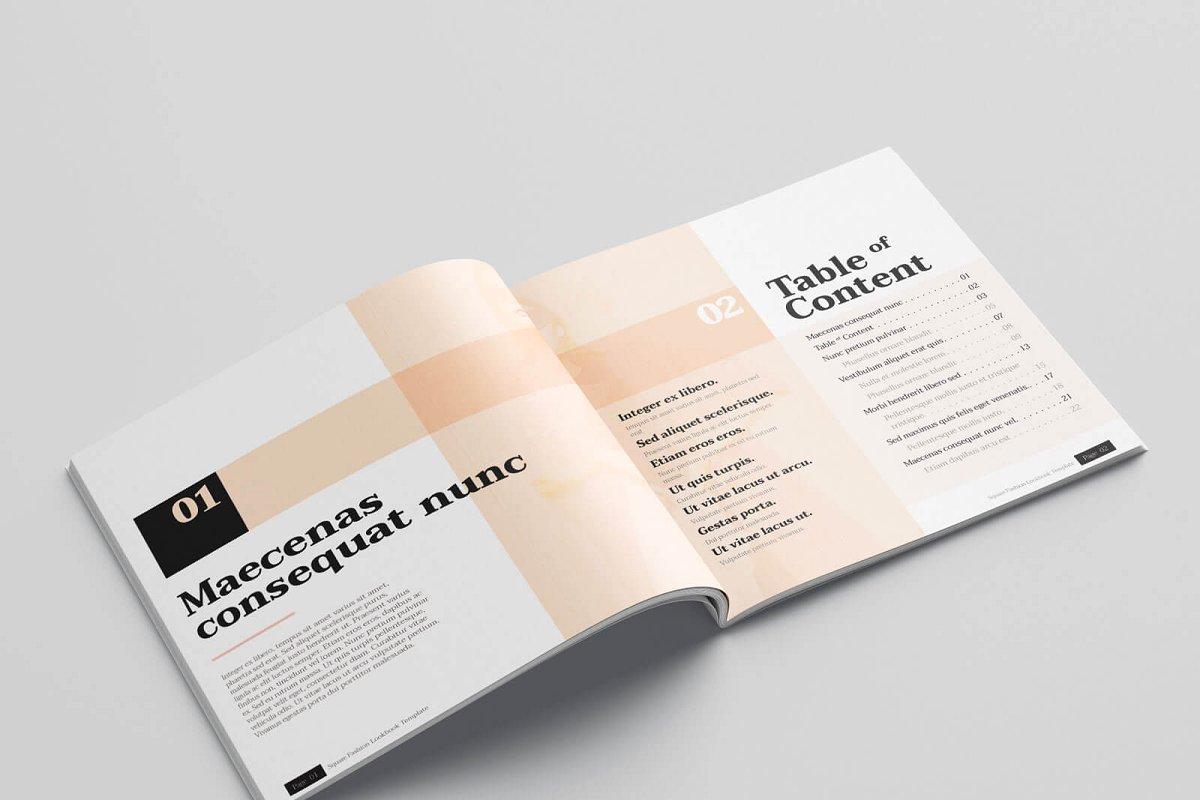 时尚方形服装品牌宣传画册设计INDD模板 KLAMBEE – Square Fashion Lookbook插图(2)