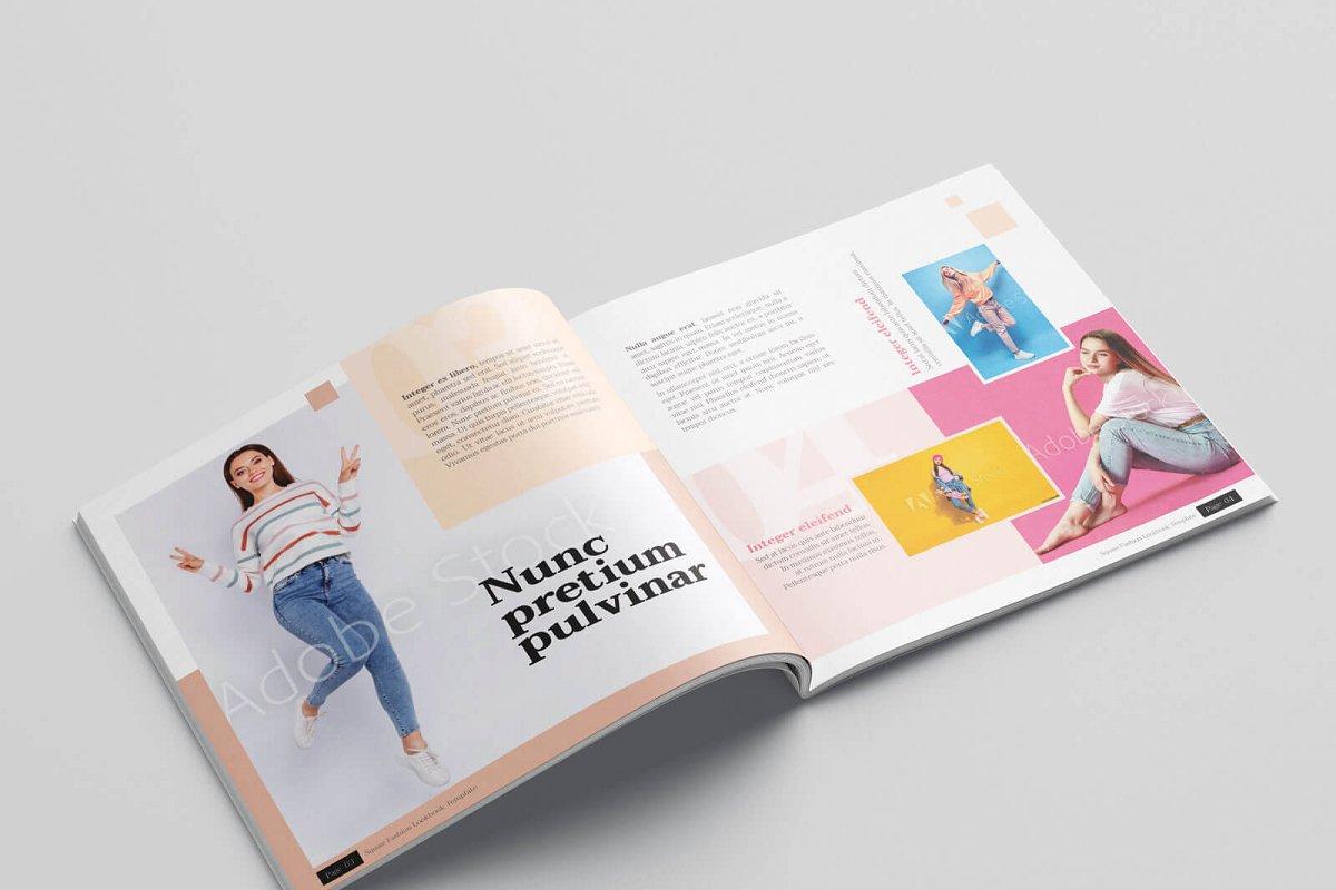 时尚方形服装品牌宣传画册设计INDD模板 KLAMBEE – Square Fashion Lookbook插图(3)