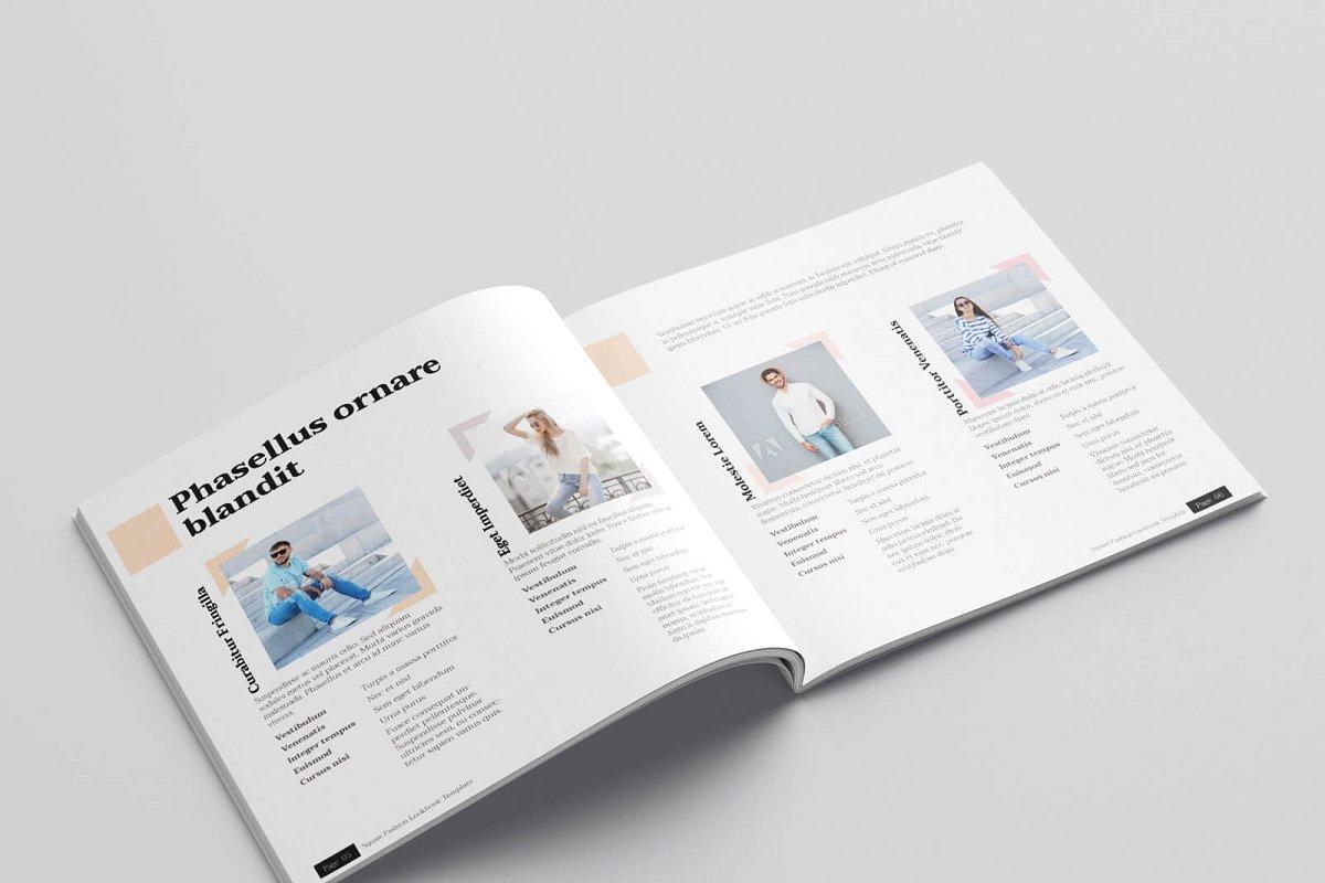 时尚方形服装品牌宣传画册设计INDD模板 KLAMBEE – Square Fashion Lookbook插图(4)