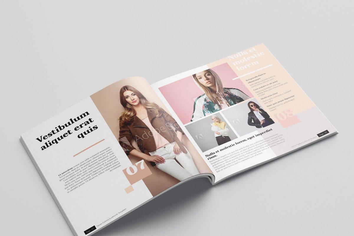 时尚方形服装品牌宣传画册设计INDD模板 KLAMBEE – Square Fashion Lookbook插图(5)