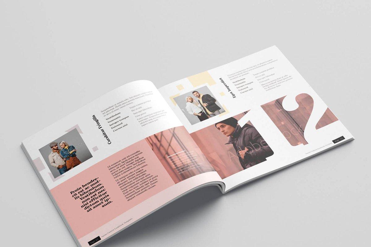时尚方形服装品牌宣传画册设计INDD模板 KLAMBEE – Square Fashion Lookbook插图(7)