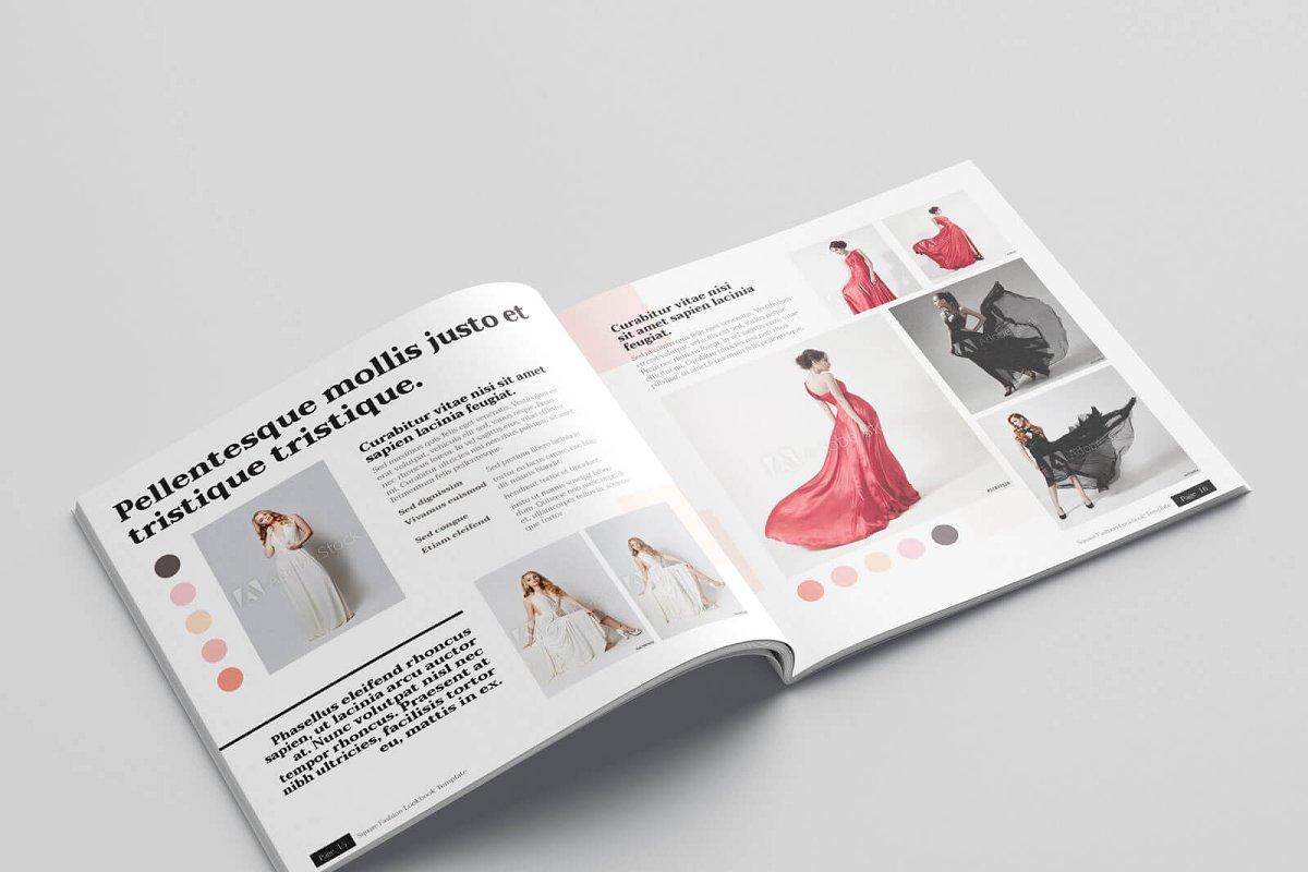 时尚方形服装品牌宣传画册设计INDD模板 KLAMBEE – Square Fashion Lookbook插图(9)