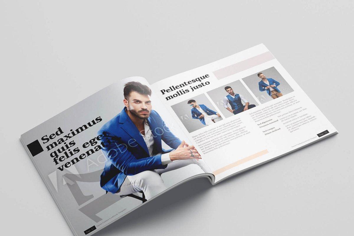 时尚方形服装品牌宣传画册设计INDD模板 KLAMBEE – Square Fashion Lookbook插图(10)