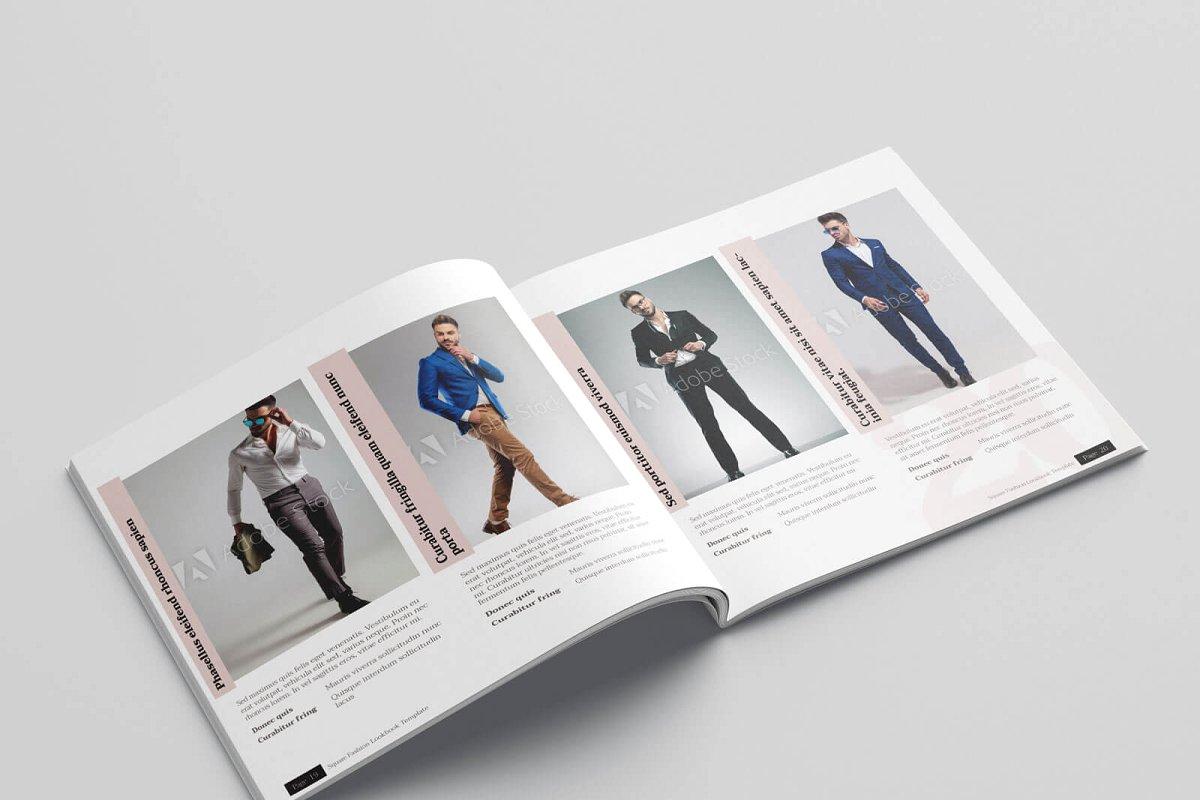 时尚方形服装品牌宣传画册设计INDD模板 KLAMBEE – Square Fashion Lookbook插图(11)