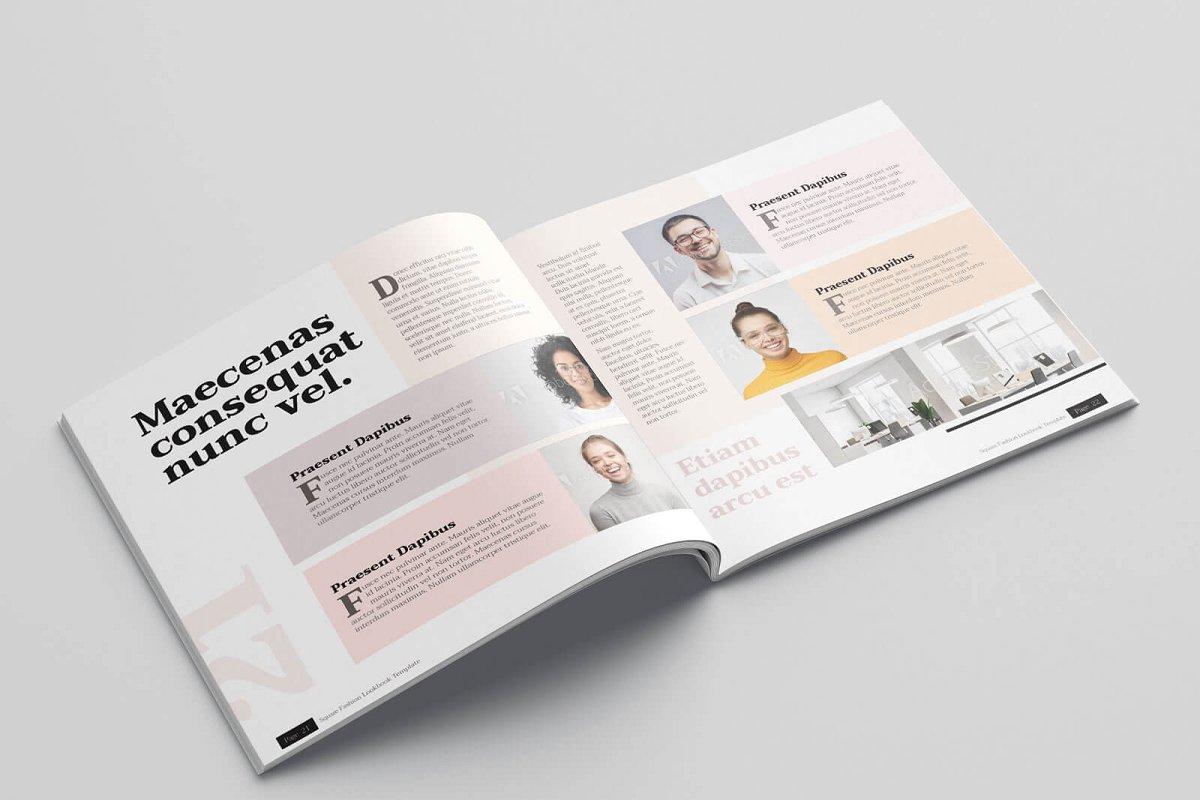 时尚方形服装品牌宣传画册设计INDD模板 KLAMBEE – Square Fashion Lookbook插图(12)