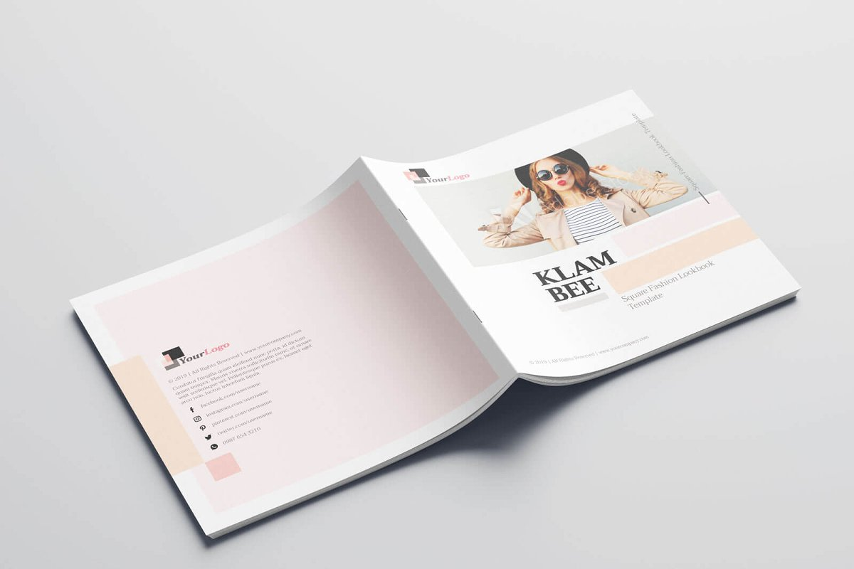 时尚方形服装品牌宣传画册设计INDD模板 KLAMBEE – Square Fashion Lookbook插图(13)