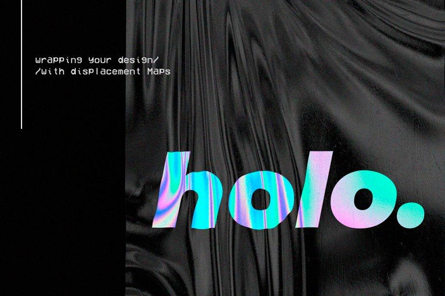 30款超逼真金箔纸设计效果图样机模板 Holographic Foil Mockup Template插图(3)