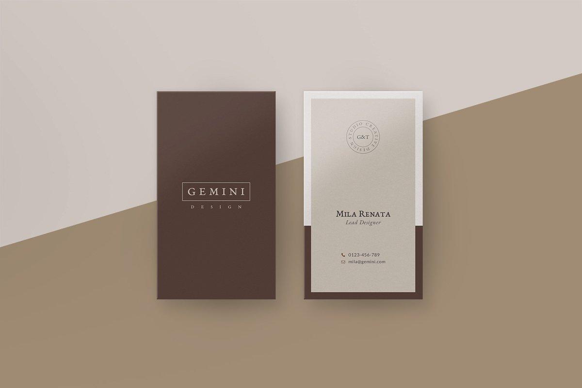 优美商务名片设计PSD模板素材包 Gemini Business Card Templates插图