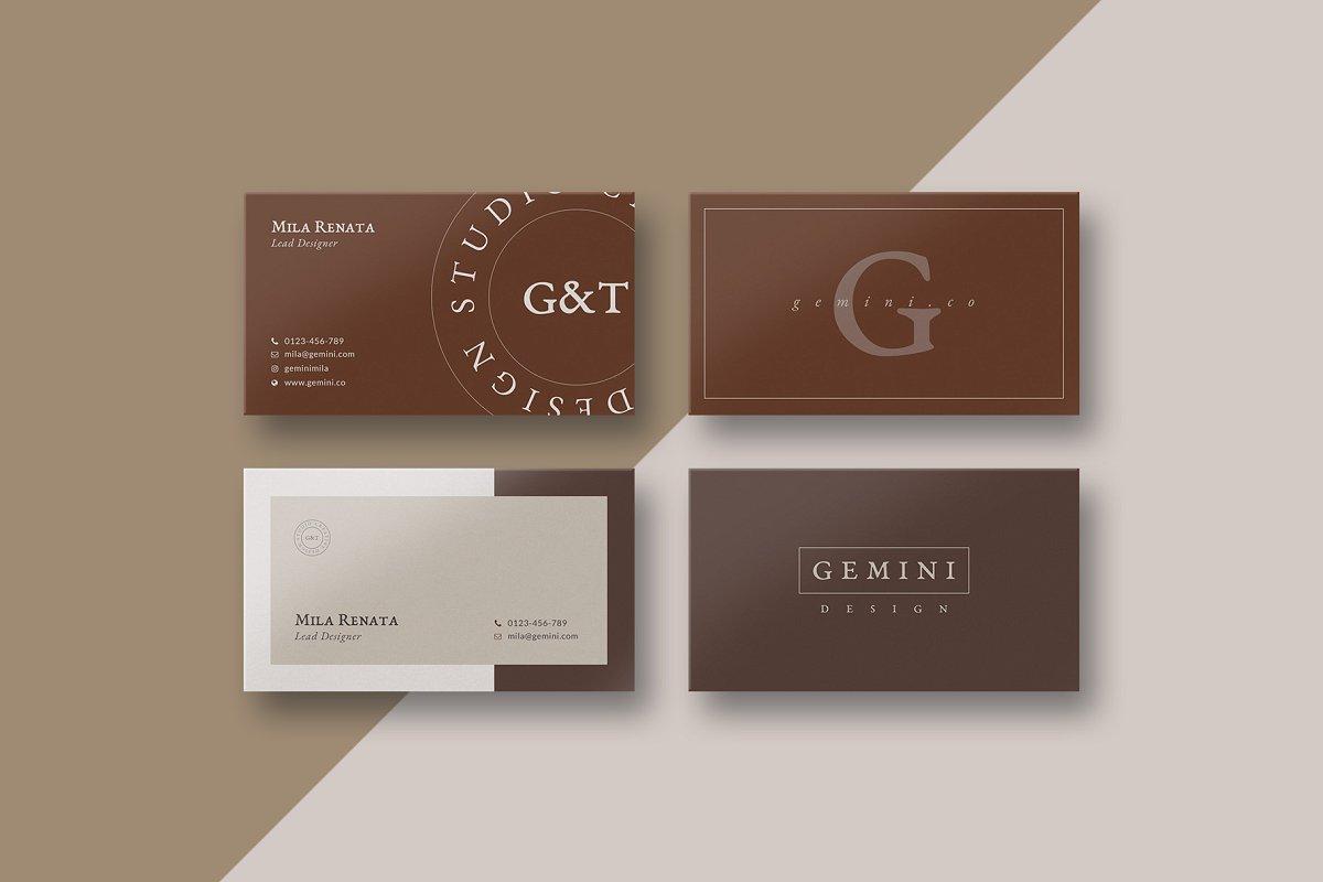 优美商务名片设计PSD模板素材包 Gemini Business Card Templates插图(1)