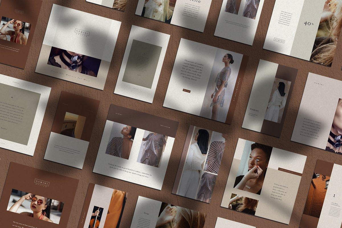 优雅时尚服装品牌故事Instagram推广社交设计素材包 Gemini Instagram Pack插图(1)