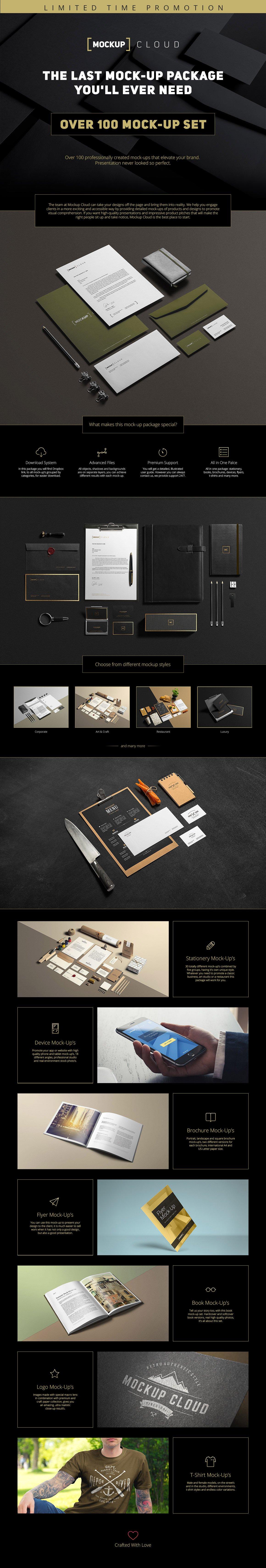 [12.72 GB] 超巨量品牌产品设计展示效果图样机模板集合 Branding Mockup's Bundle插图(1)