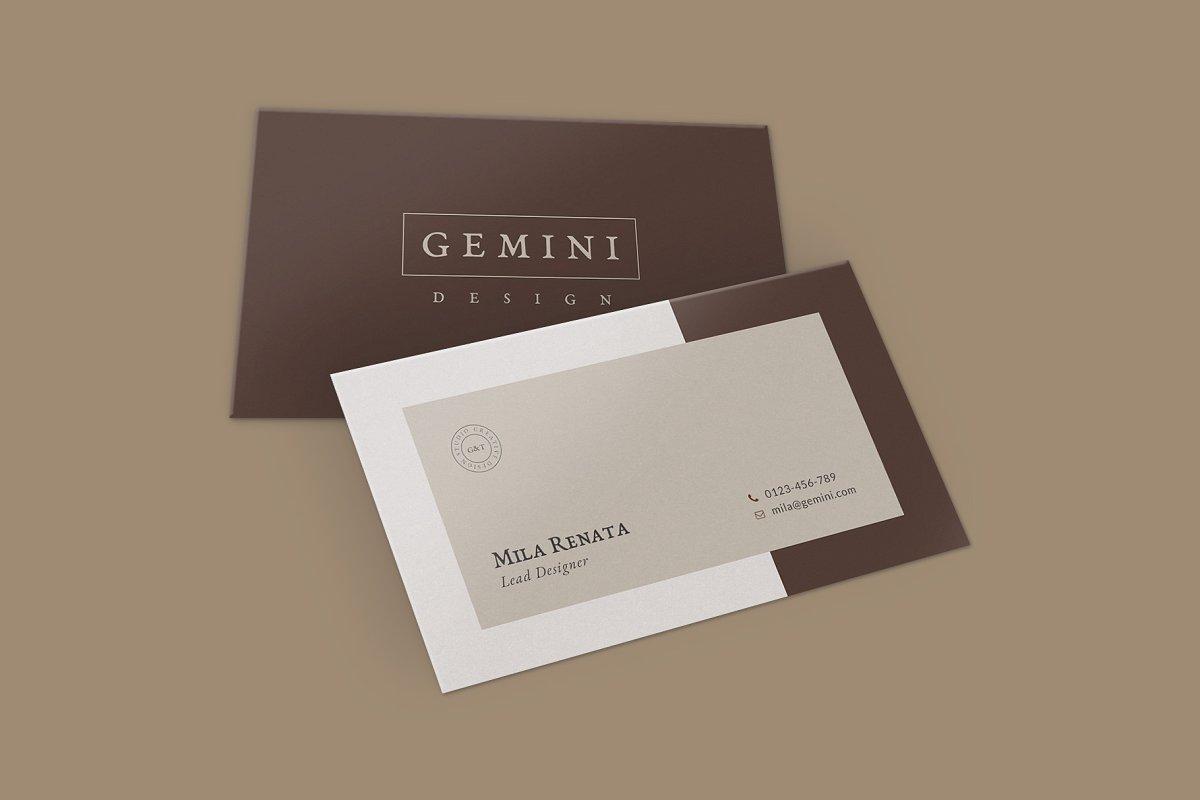 优美商务名片设计PSD模板素材包 Gemini Business Card Templates插图(2)