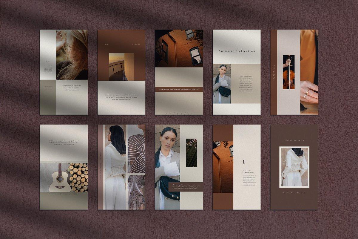 优雅时尚服装品牌故事Instagram推广社交设计素材包 Gemini Instagram Pack插图(7)