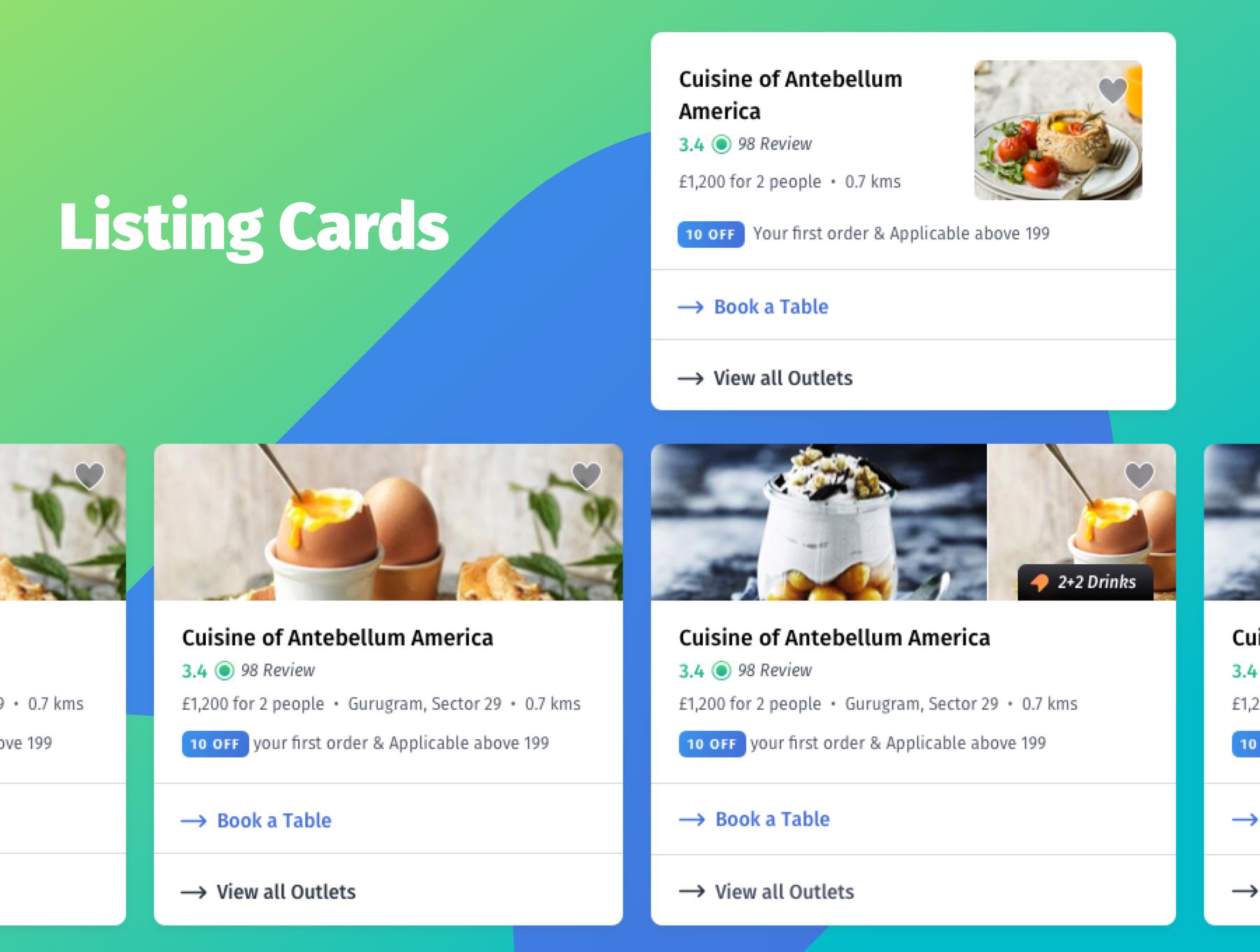 咖啡店酒店餐馆食品外卖APP应用程序UI界面设计套件 YumFood – Mobile App UI kit插图(5)