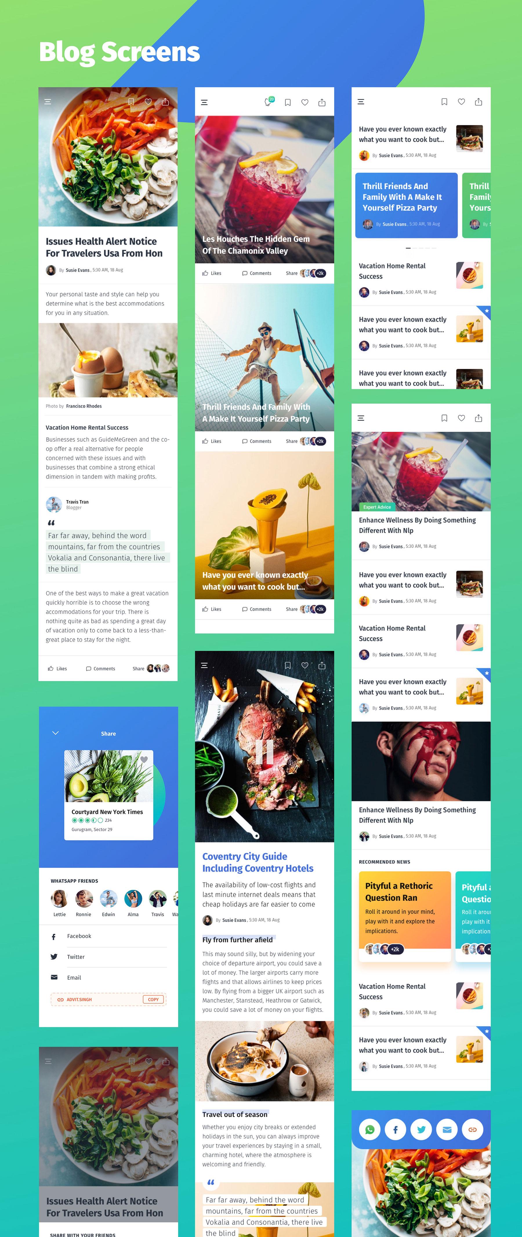 咖啡店酒店餐馆食品外卖APP应用程序UI界面设计套件 YumFood – Mobile App UI kit插图(8)