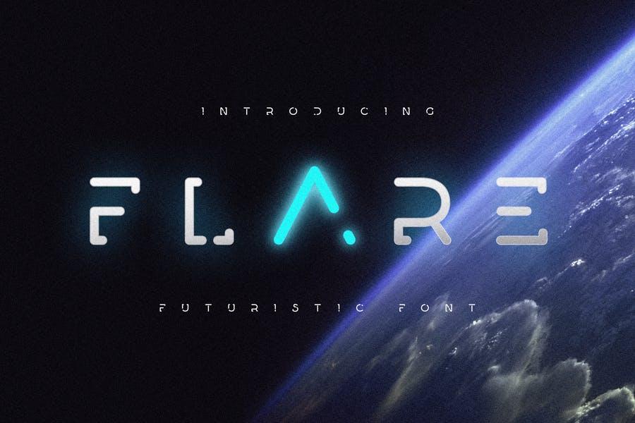 未来科幻设计风格英文字体 Flare – Futuristic Science Font插图