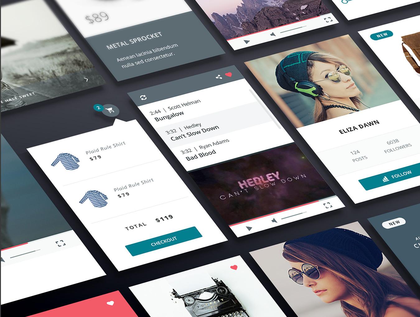 多功能商城博客WEB网站UI界面设计套件 Classe UI Kit插图