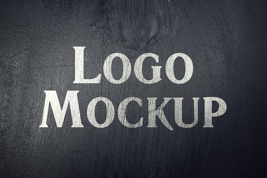 逼真LOGO设计效果图样机模板 Grange Logo Mockup插图(1)