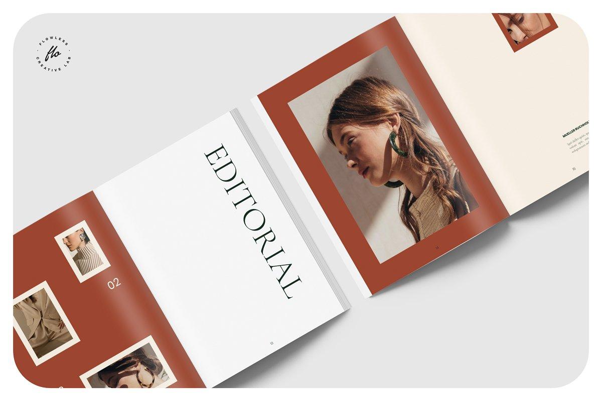 国际大牌服装设计摄影作品集杂志宣传画册目录INDD模板 GROVE Editorial Lookbook Magazine插图(2)
