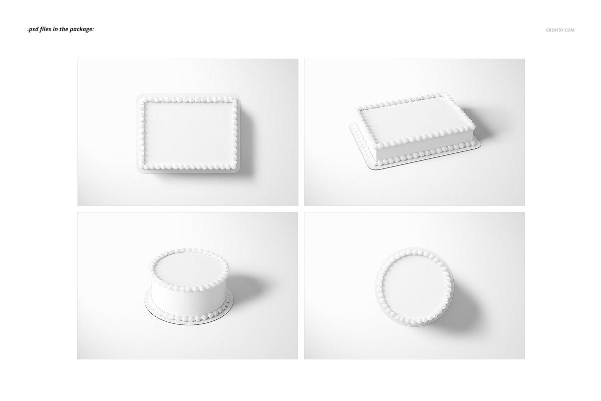食用蛋糕礼帽外观设计效果图样机模板合集 Edible Cake Topper Mockup Set插图(2)