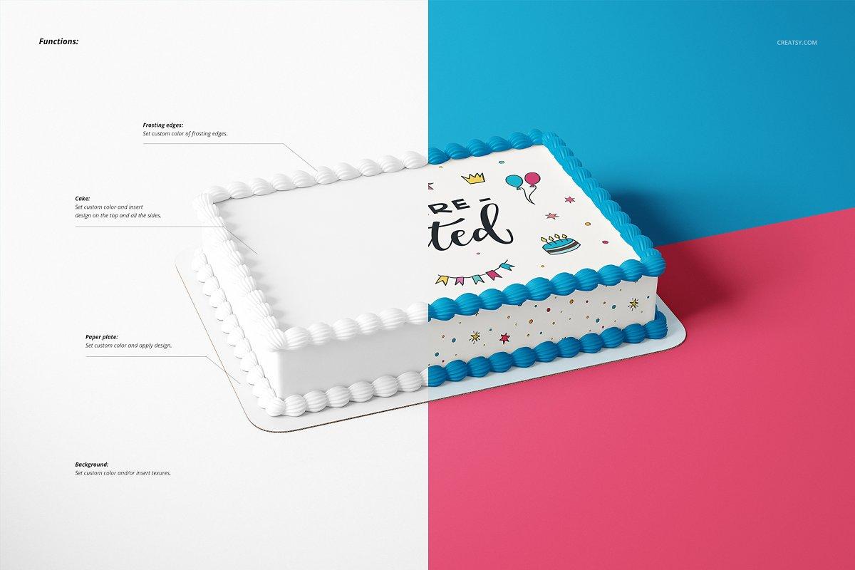 食用蛋糕礼帽外观设计效果图样机模板合集 Edible Cake Topper Mockup Set插图(3)