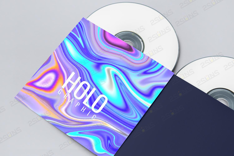 抽象彩虹铝箔背景纹理JPG设计素材包 Holographic Digital Paper Marble Texture插图(2)