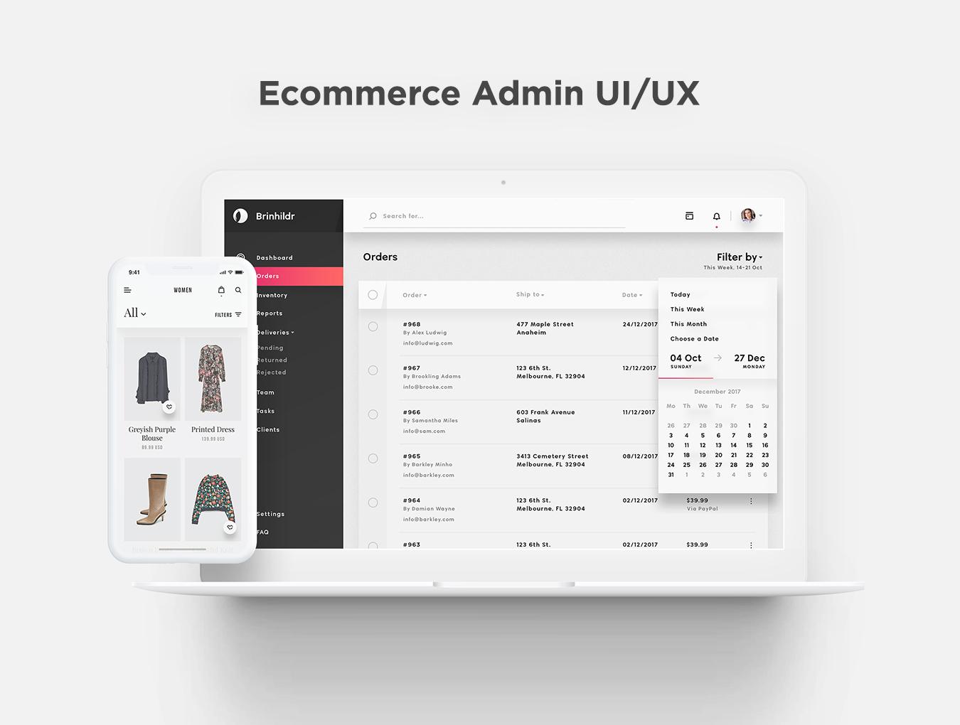 商城网站仪表盘后台管理系统WEB UI界面设计套件 Brinhildr – Dashboard Web UI Kit插图(3)