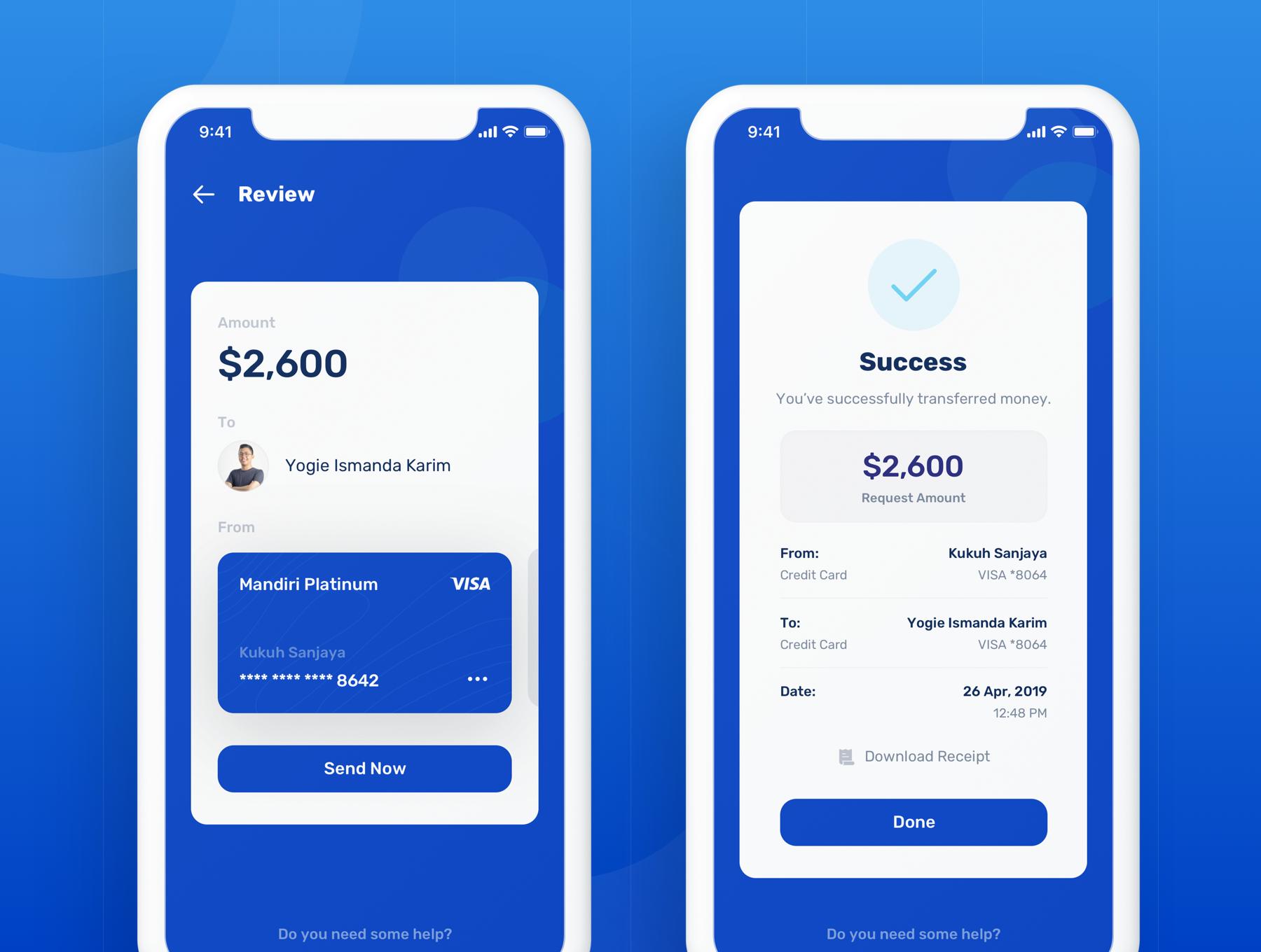 蓝色调金融银行财务管理APP应用程序UI界面设计套件 Banky – Finance App UI Kit插图(5)
