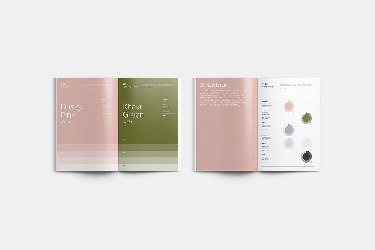 极简主义企业品牌规范VI手册设计INDD模板 SANTONA / Brand Guidelines插图(2)