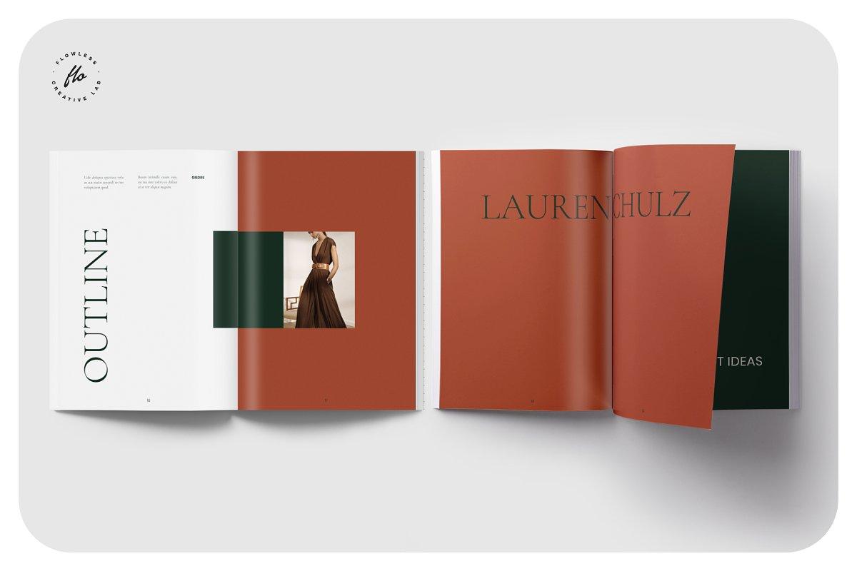国际大牌服装设计摄影作品集杂志宣传画册目录INDD模板 GROVE Editorial Lookbook Magazine插图(3)