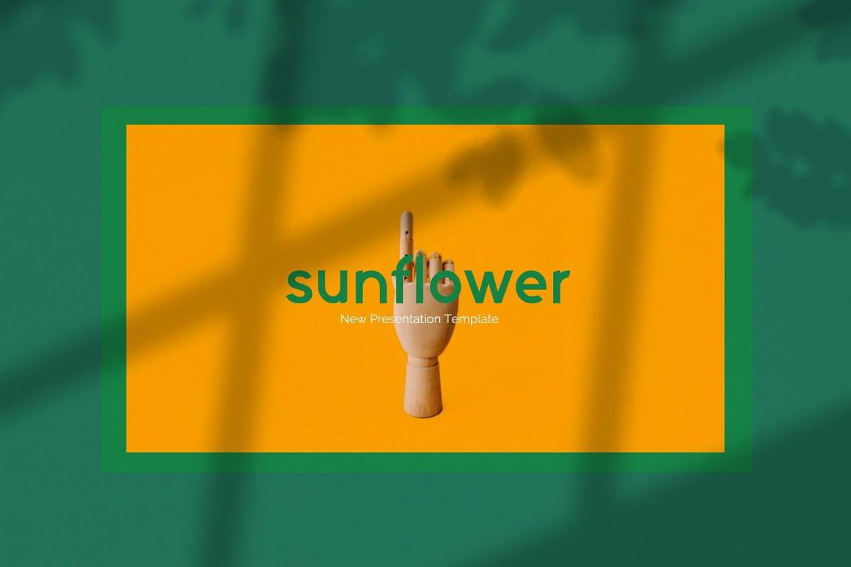 时尚潮流服装摄影作品集PPT演示文稿设计模板 Sunflower – Powerpoint插图(1)