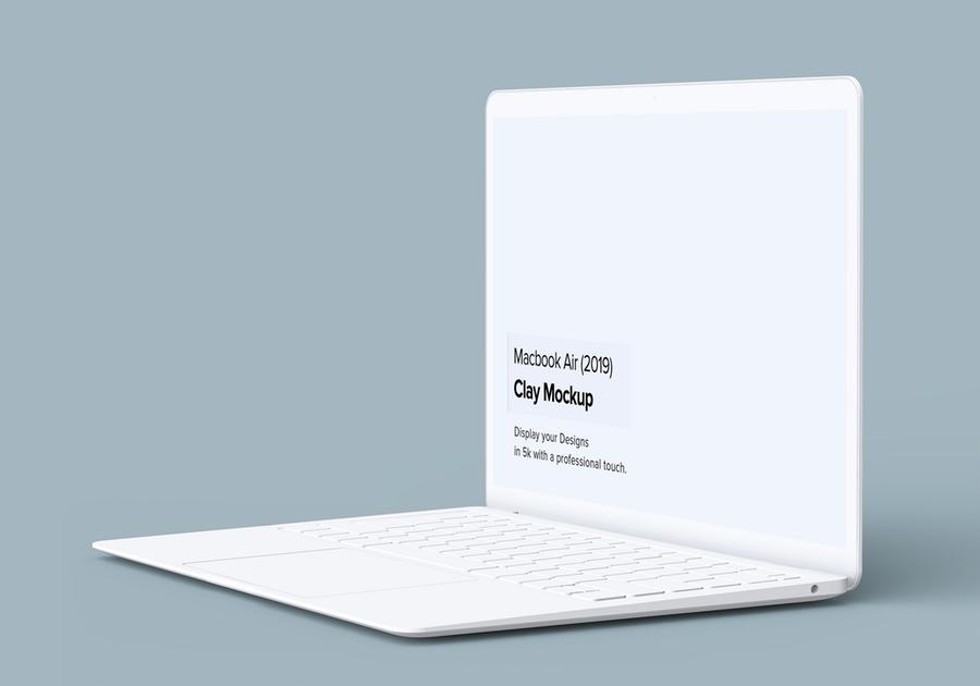 2019全新陶瓷Macbook Air苹果笔记本电脑样机模板 Minimal Macbook Air Mockup插图(3)