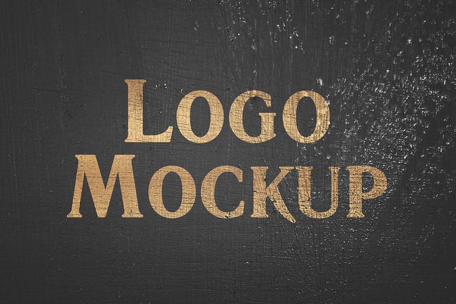 逼真LOGO设计效果图样机模板 Grange Logo Mockup插图(3)